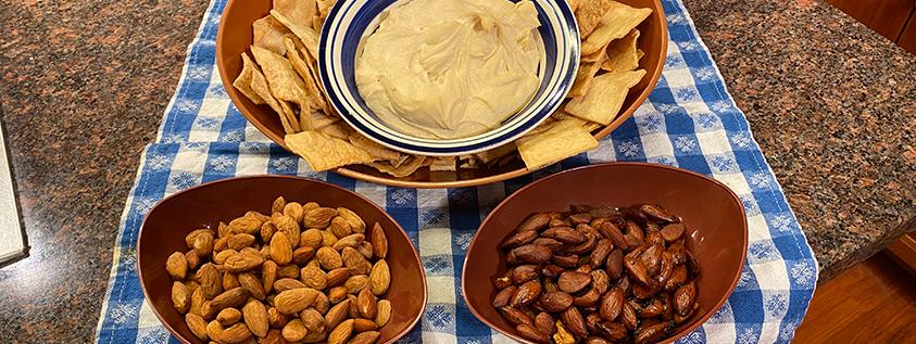 Almonds 2 Ways and Hummus